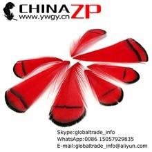 CHINAZP Fabriek Groothandel 100 stks/partij Exporteren Goede Kwaliteit Geverfd Red Lady Amherst Fazant Tippet Veer