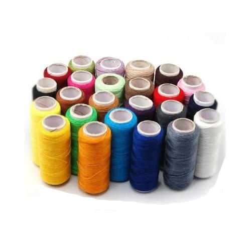Llega 24 carretes multicolores surtidos hilos de poliéster para coser