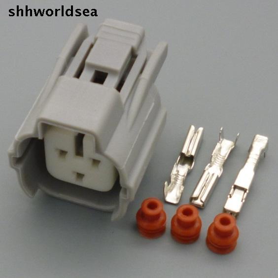 Shhworldsea 3 pin conector impermeable para coche para TOYOTA modificado camshaft sensor enchufe hembra conector