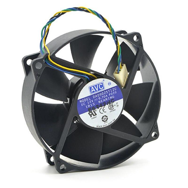 מקורי עבור AVC DA09025T12U 9025 90mm/80mm x 25mm PWM עגול Cooler קירור מאוורר 12V 0.70A 4 חוט 4Pin מחבר cooler
