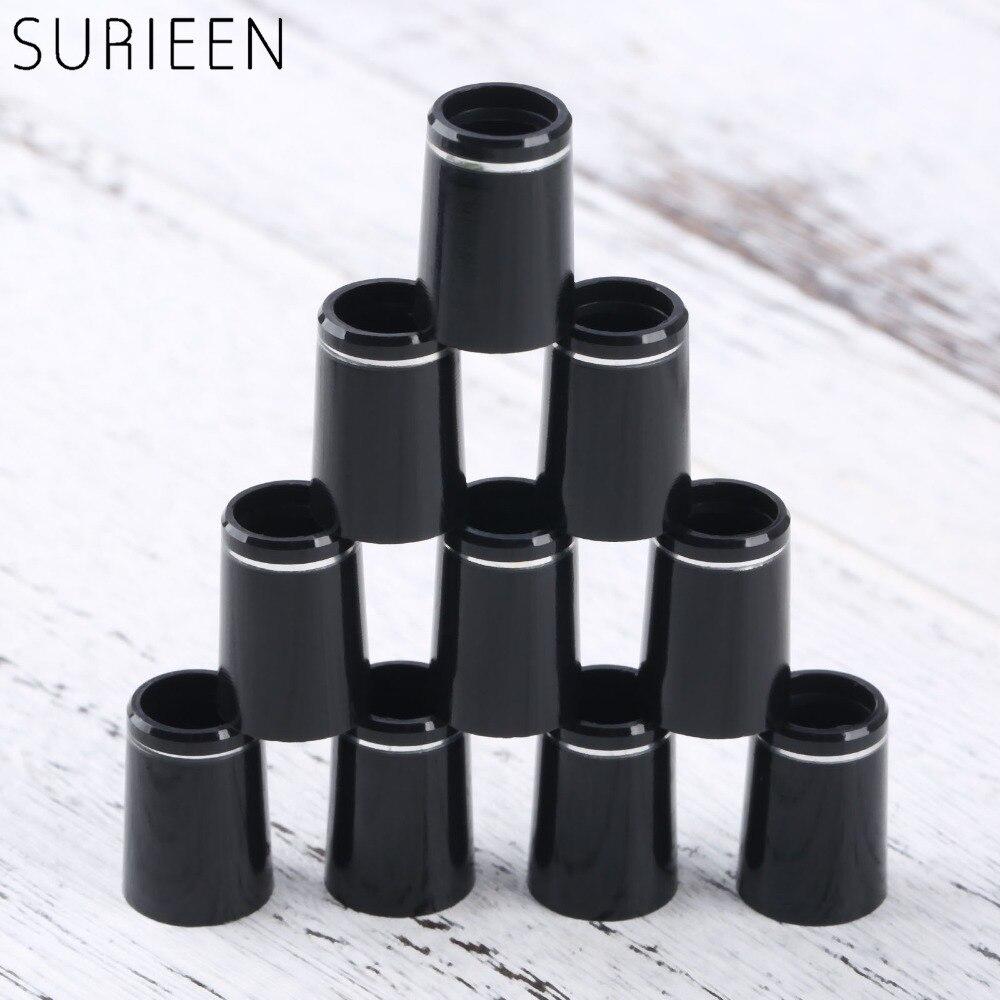10 Uds casquillos de Golf de plástico con un solo anillo de ajuste 0.335 o 0.370 puntas de hierro mango de Golf adaptador de funda de repuesto 16mm/19mm