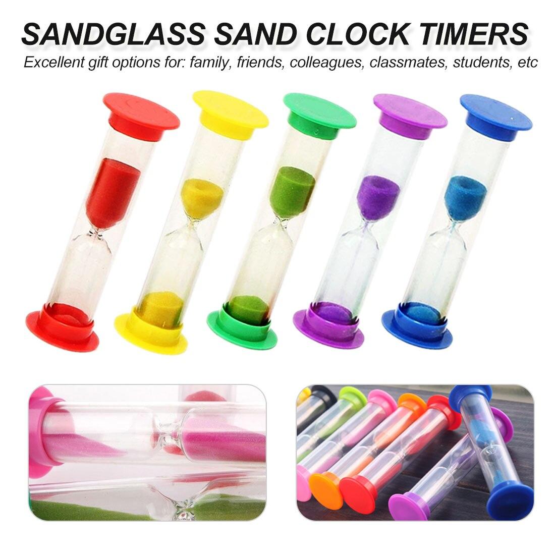 砂時計タイマー 1 分/10 分/3 分/5 分カラフルな砂時計砂時計の砂タイマー 5 色選択するホームデコ