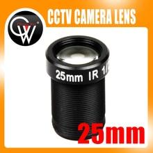 "5.0 Megapixel HD 25mm IR CCTV Lens 1/2 ""Voor HD IP AHD CCTV Camera Lens F2.4 M12 Mount vaste Iris Lange Kijkafstand Tot 50 m"
