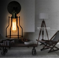 Retro iron wall lamp American retro Edison art RETRO iron wall lamp lamp Lotus Lamp GY162