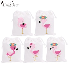 Flamingo Theme Party Favor Flower Bags Candy Bags Holiday Vacation Birthday Gift Bags Animals Party