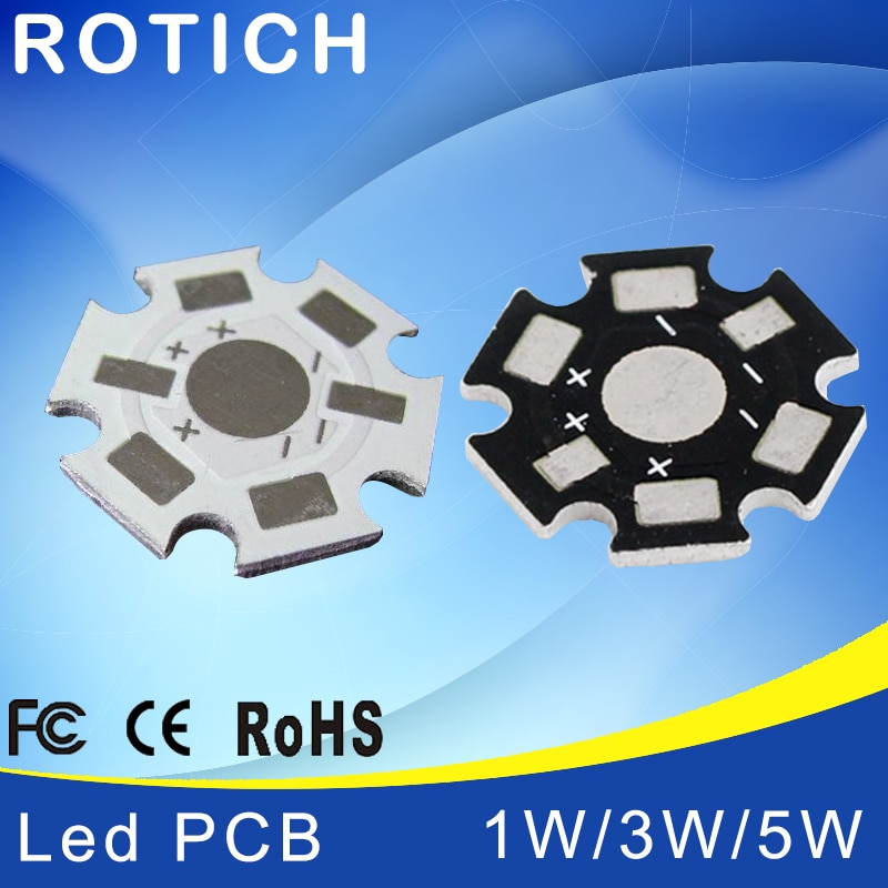 1W 3W 5W LED Lamp High quality PCB Board, 20mm LED Aluminum Base plate for high power LED Beads 10pcs 20 20mm 2m round led channel cable hidden with pendant rope led aluminium profile for 12mm pcb board