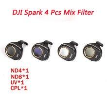 4Pcs MCUV/CPL/ND4/8 Lens Filter Kit  For DJI Spark Filter lens For DJI Spark Snap on Filters Set for DJI SPARK Accessories