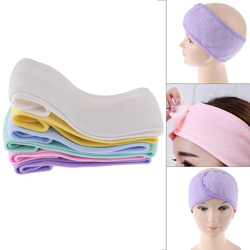 Bandas elásticas para el cabello de moda para Spa, ducha, lavado de cara, turbante para la cabeza, toalla de tela cosmética para mujeres, diademas para maquillaje