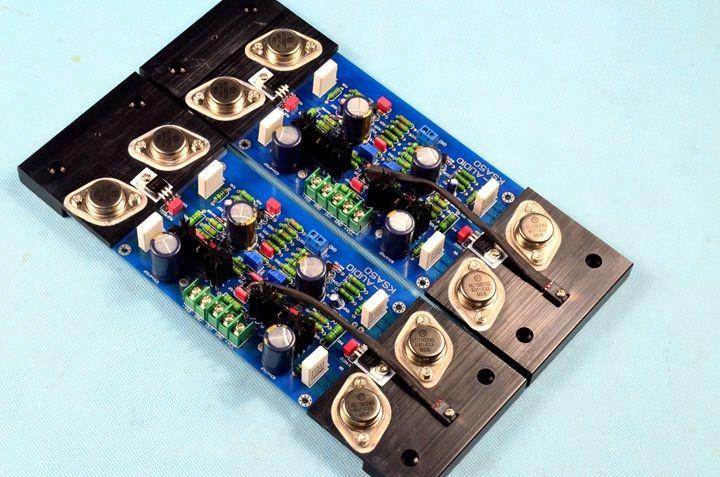 Assembled HIFI STEREO AMP AM90 Kim sealed amplifier board class AB 200W+200W