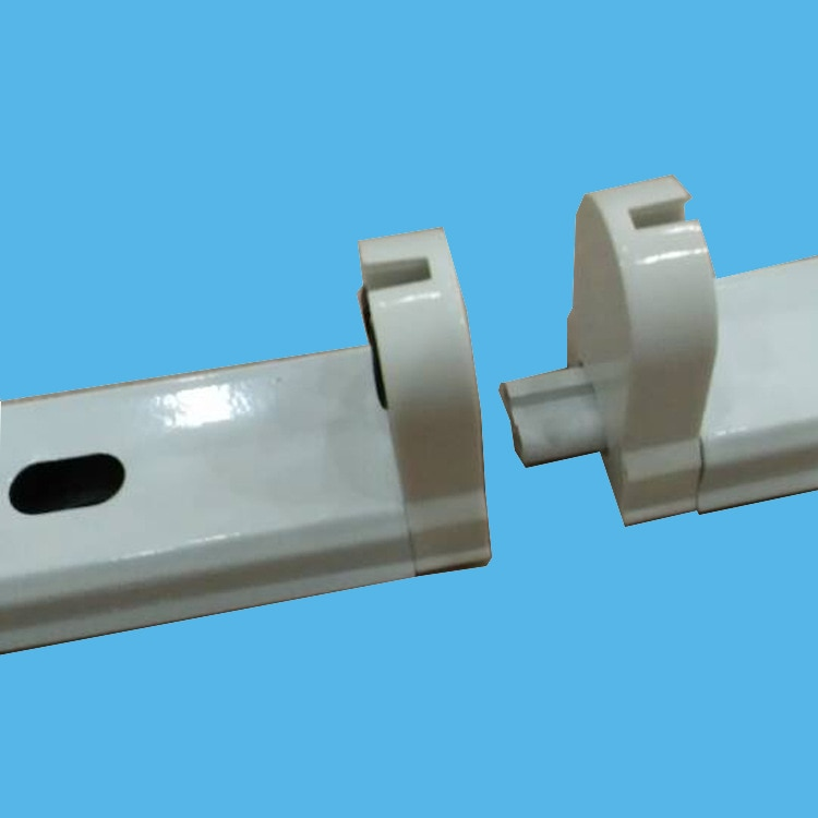 free shipping High quality aluminum housing T8  LED TUBE installation holder fixture with wire inside , all accessories included
