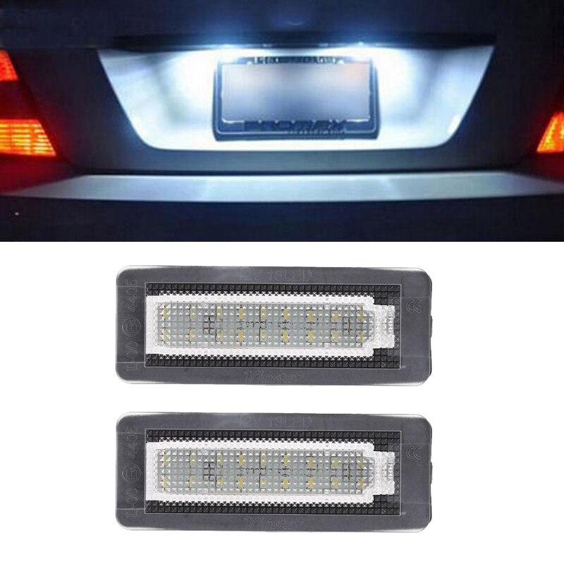 1 par de 18 Canbus LED del coche No código de Error lámpara de placa de matrícula para Smart luz trasera