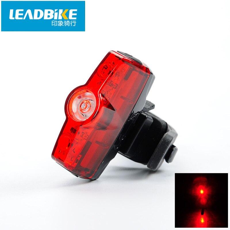 Luz trasera de plomo para bicicleta ABS, 3 Led, recargable vía USB, resistente al agua, luz de advertencia segura, 4 modos