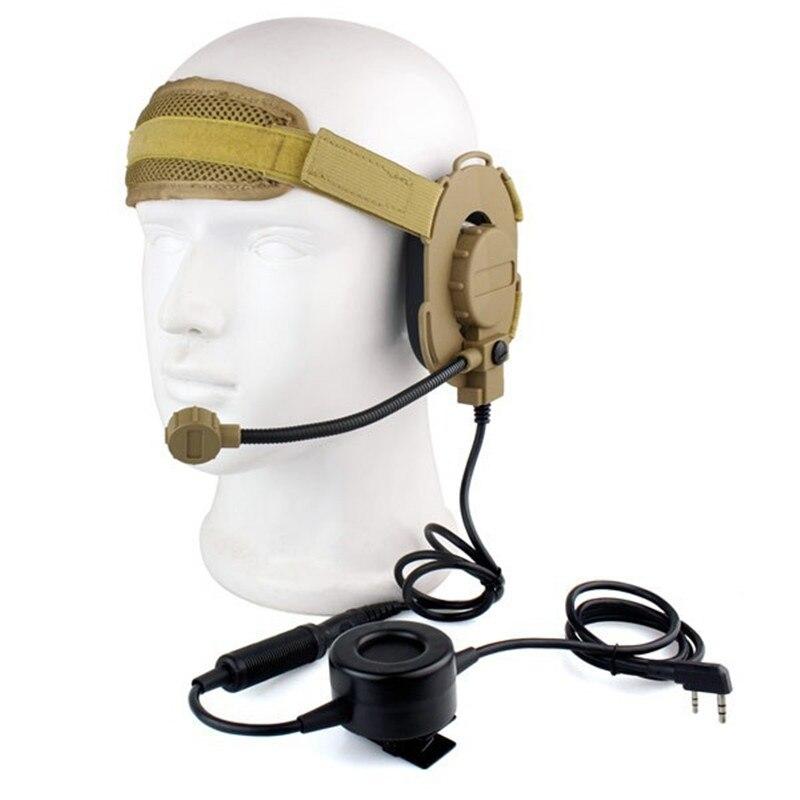 سماعات رأس جديدة HD03 Z تكتيكية Bowman Elite II ، مع PTT مقاوم للماء ، أذن يمين/يسار لـ BAOFENG 5R 5RA 5RB ، 2 دبوس ، راديو ثنائي الاتجاه ، 10 قطعة