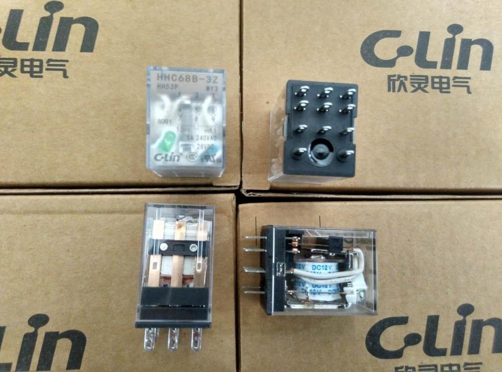 Brand new original authentic C-Lin HHC68B-3Z JZX-22F(D)/3Z HH53P MY3N Relay DC12V