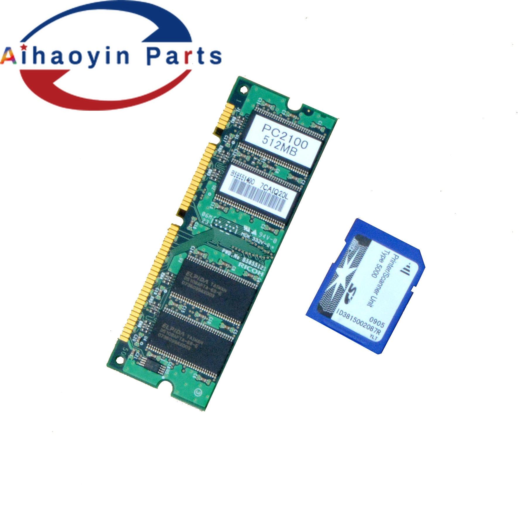 sd e 512 Ram para Ricoh Conjuntos Refubish Cartão Aficio Mp4000b Mp5000b Mp4002 Mp5002 1