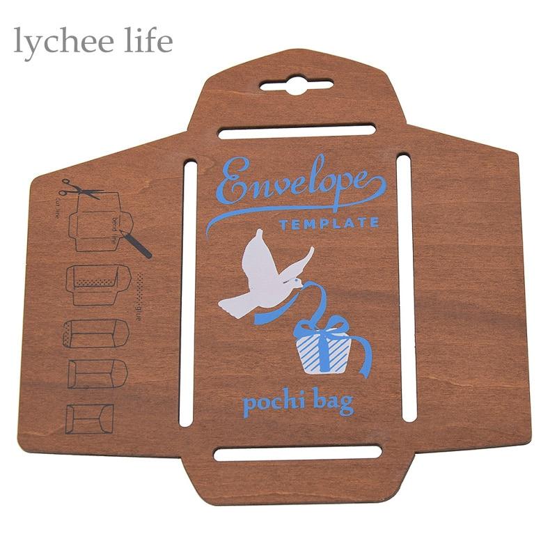 Retro Wooden Envelope Template Manual Stencil Mould DIY Handmade Envelope Mould Craft