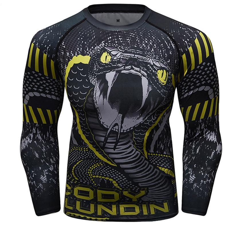 Mma Rashguard Muay Thai Long Sleeve Sport Shirts Quick-drying Sweating Rashguard Compression Mma Boxing Clothes Training T Shirt