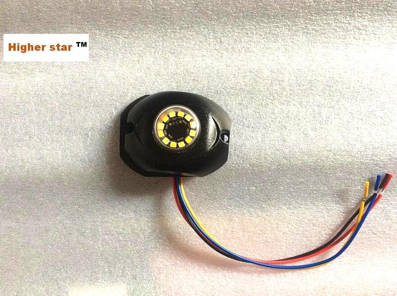 Higher star 12*3W Led Dual color car strobe lights,grill emergency light,sidelight,hideaway warning lights,35flash,waterproof