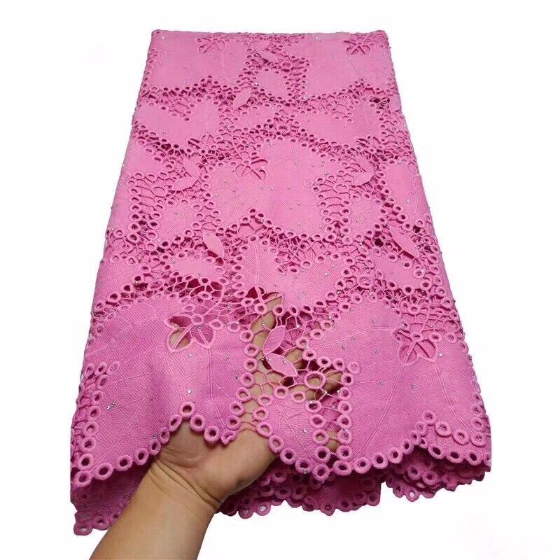 ¡Oferta! tela de encaje nigeriano con cordón africano, tela de encaje de alta calidad, encaje Rosa francés con piedras, tela para boda
