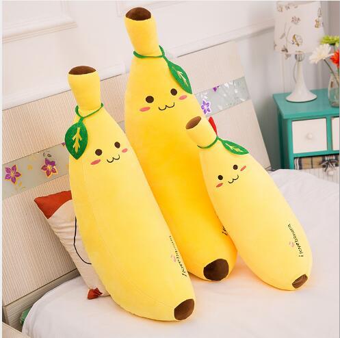 WYZHY juguetes de peluche Software creativo Banana almohada simulación fruta cojín regalo de cumpleaños 80 CM