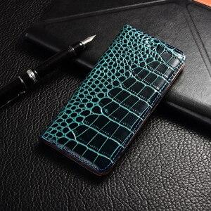 Крокодиловый Чехол для телефона из натуральной кожи ZTE Nubia N1 N2 N3 M2 Z7 Z9 Z11 Z17 Lite Max Mini S6 FLEX Flip Stand cover Coque