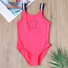 2019 mädchen bikini Badeanzug Sommer Ein Stück Mädchen Stern Schwimmen Anzug 3 ~ 14 Jahr Mädchen Bademode Kinder Beachwear-SW103