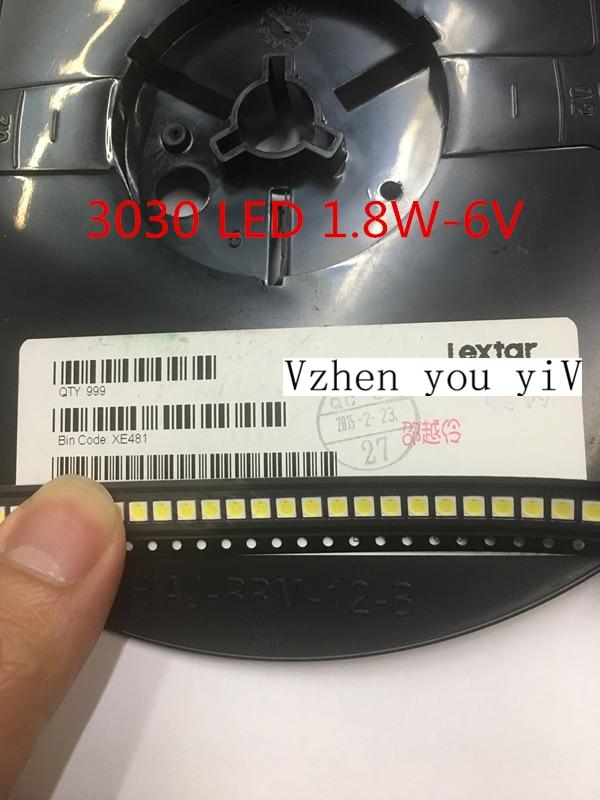 إضاءة خلفية LED عالية الطاقة من Lextar, 1000 قطعة LED بإضاءة خلفية عالية الطاقة 1.8 وات 3030 6 فولت ، أبيض رائع 150-187LM PT30W45 V1 ، لتطبيق التلفزيون 3030 smd led ديود