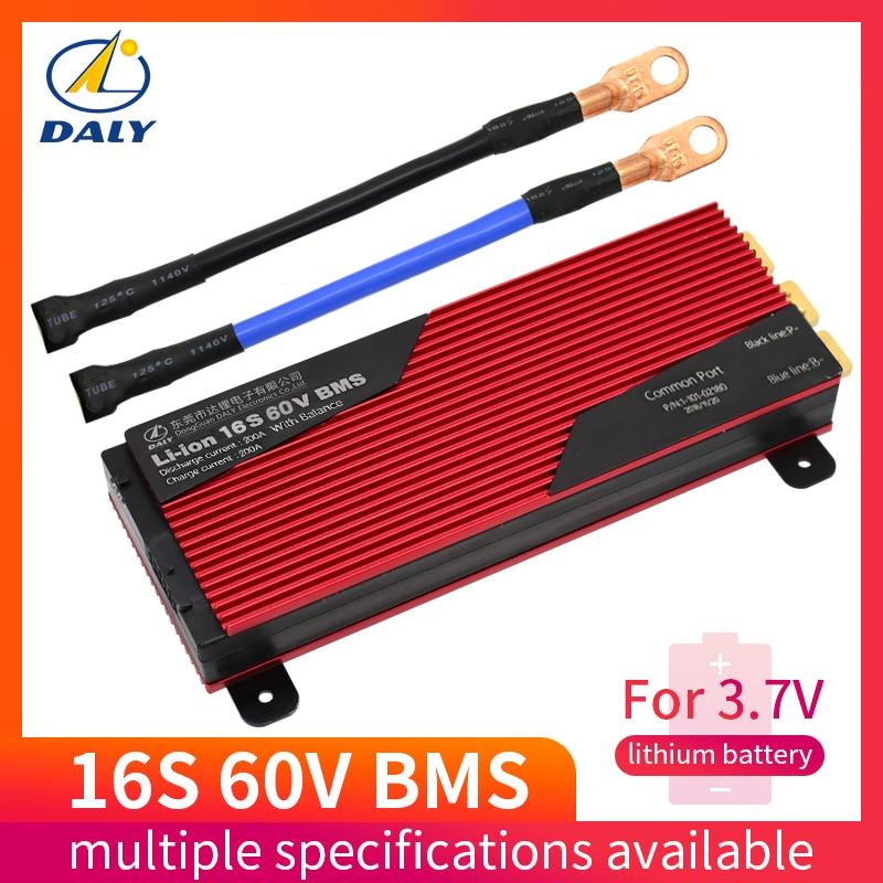 60В Li-Ion BMS 16S 80A 100A 200A Защитная плата PCM с балансом для электрического автомобиля EBike скутер Солнечный для литиевой батареи