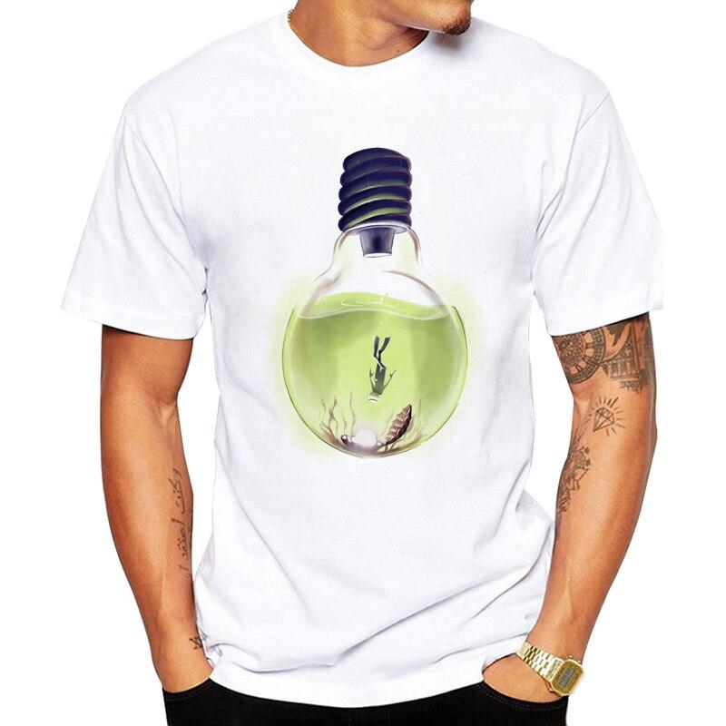 2019 haut col en o mâle nouvelle mode pour hommes à manches courtes lumière profonde plongée plus T-Shirt Fan idée cadeau T-Shirt drôle décontracté T-Shirts
