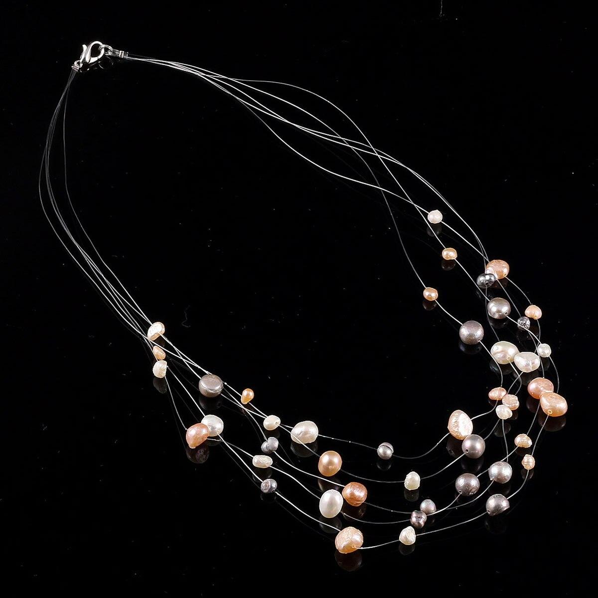 ¡Venta al por mayor! ¡Nuevo diseño! Hermoso collar de perlas de agua dulce/collares de moda al por menor para mujeres 2020 Declaración