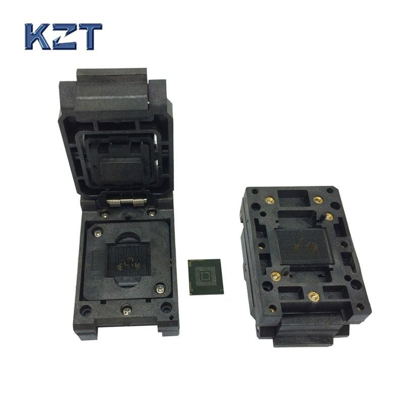 EMMC153/169 BGA153 BGA169 encendido en el enchufe Pin paso 0,5mm IC tamaño del cuerpo 12x18mm prueba adaptador de enchufe