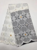 white african french lace fabric high quality african tulle lace fabric for wedding big beaded french lace fabric k d2393