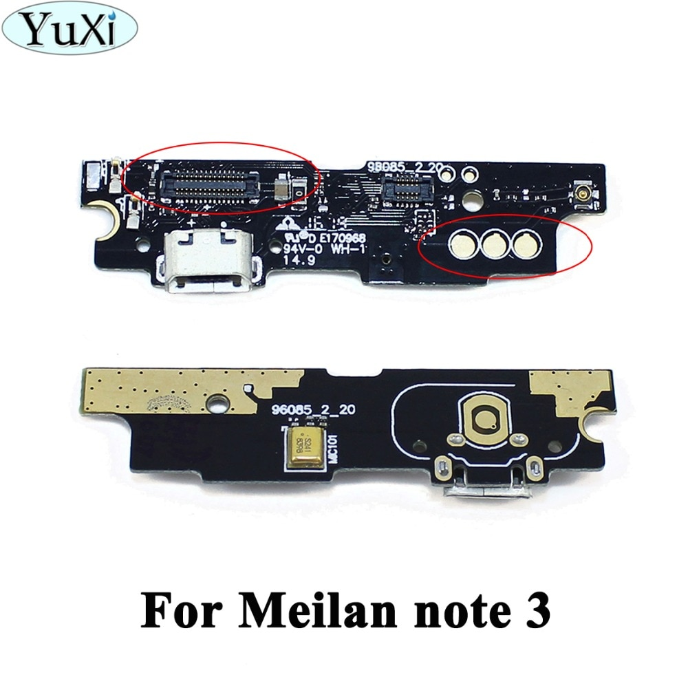YuXi 1 Uds para Meizu M3 nota Conector Micro Usb carga de reemplazo USB Cable Flex de teléfono partes para Meizu meilan M3 nota