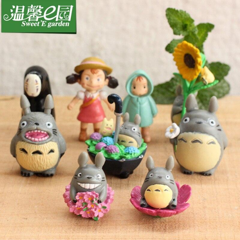 9 Uds moss micro-decoración para paisajismo gato dragón plum muñeca paraguas de muñeca gato dragón 9 Nueva gato Dragón