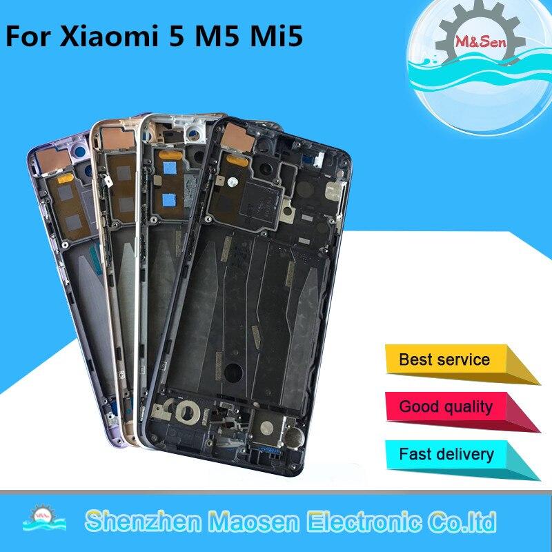 M & Sen, для Xiaomi Mi 5, Mi5, M5, с гибким кабелем питания, передняя рамка, корпус средней рамы для Xiaomi Mi 5, Mi5, M5, средняя рамка