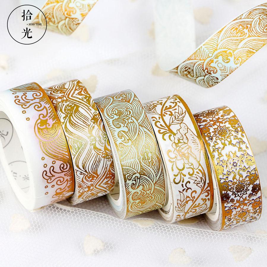 Creative Decorative DIY Washi Paper Tape Gold Bronzing Series Masking Sticker Set 12 Optional александр малинин 2019 12 14t19 00