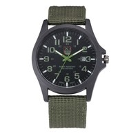 Outdoor Mens Date Stainless Steel Luxury Watch Military Sports Analog Quartz Army Wrist Watch High Quality for Dropshipping S7