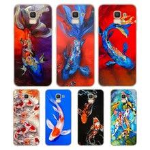 Silicone Phone Case Chinese Koi Fishes Fashion Printing for Samsung Galaxy j8 j7 j6 j5 j4 j3 Plus Prime 2018 2017 2016 Case Cove