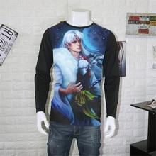 Cosplay costume Anime Unisex Tops Tee Inuyasha T-shirt Anime Sesshoumaru Short Sleeve T shirt Breathable Men Women Top Tees