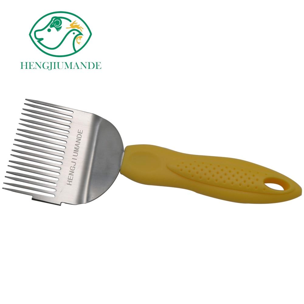 Rascador de abejas multifunción de corte de abeja Tenedor de miel 18 Acero inoxidable cuchillo para Apicultura