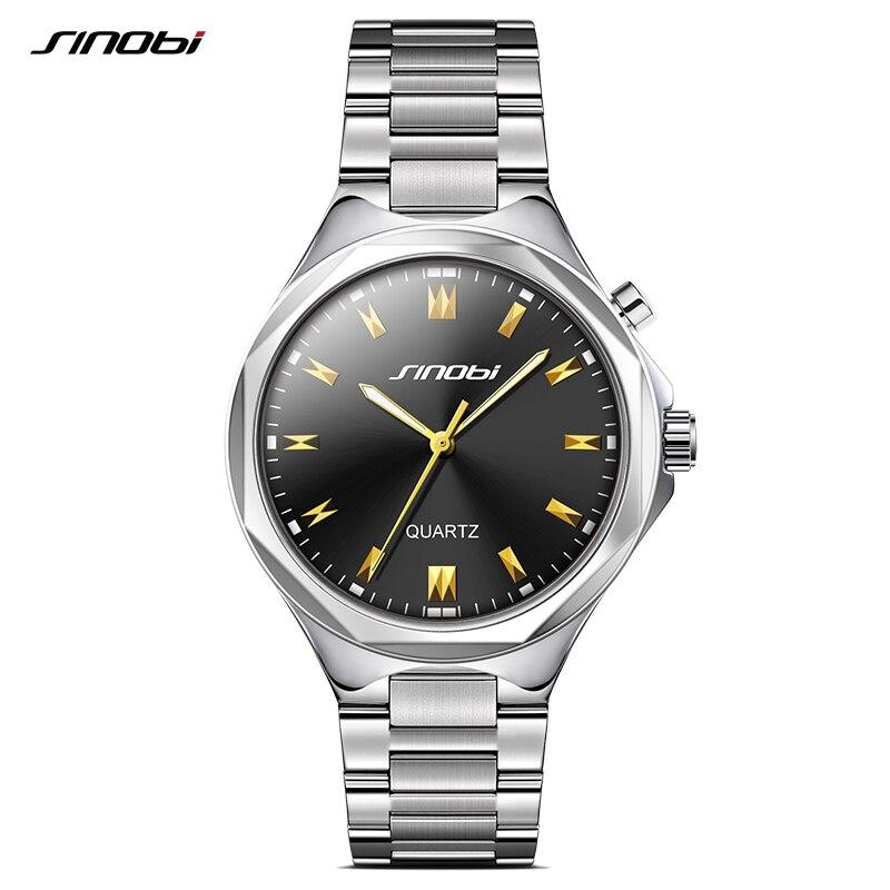 Часы SINOBI Мужские, кварцевые, из нержавеющей стали