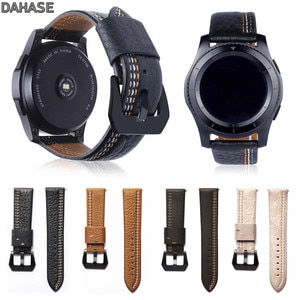 DAHASE Genuine Leather Watch Strap For Samsung Gear S3 Band Replacement Watch Bracelet For Gear S3 Classic Frontier 22mm