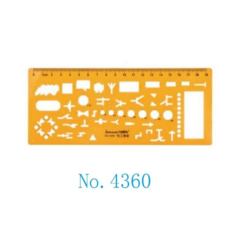 Plantilla de dibujo de ingeniería eléctrica, plantilla n. ° 4360