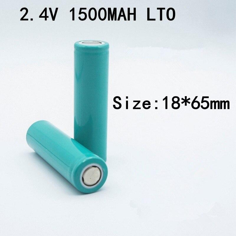 30 piezas 2,4 v 18650 titanato de litio de la batería de 2,4 V 1500mah 18650 LTO Bateria 6C descarga para Diy 24v 36V 30ah paquete Camper Van gratis