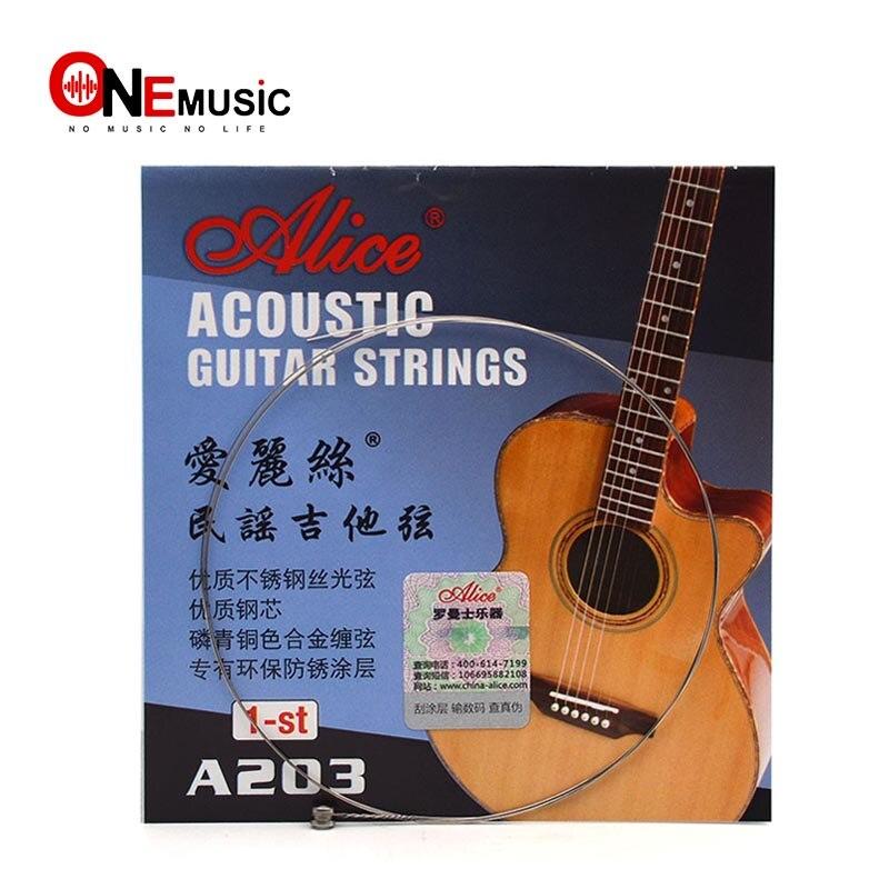 10 Uds. Alice A203SL 1st Balladry guitarra acústica cuerdas de guitarra popular de madera