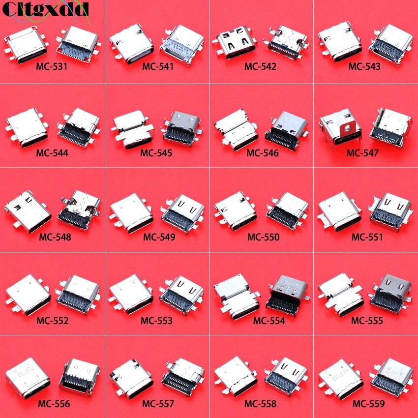 20 modelos de Conector Micro USB tipo C SMT DIP hembra USB3.1 para teléfono móvil Notebook puerto de carga Mini conector de toma de corriente con USB