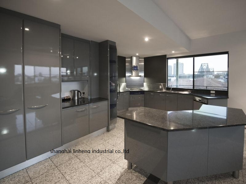 High gloss/lacquer kitchen cabinet mordern(LH-LA102)