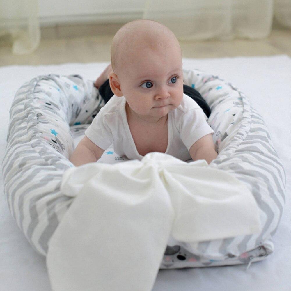 Bebé nido cama cuna bebé portátil extraíble y WashableTravel sábanas de cuna de bebé de los niños de algodón cuna reizen cuna de viaje plegable