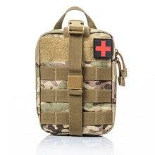 Bolsa médica táctica al aire libre, Kit de primeros auxilios de viaje multifuncional, paquete de supervivencia de emergencia de escalada para Camping