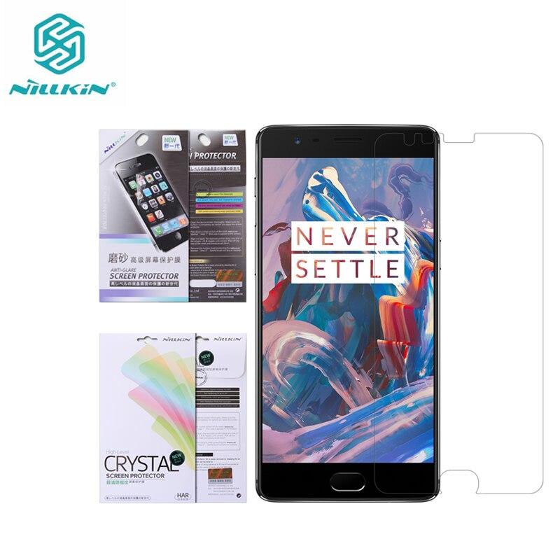Nillkin – Film protecteur d'écran pour OnePlus 3 (A3000) /3T, Film de protection en plastique transparent/mat pour OnePlus 5T 6 6T 7T 8T